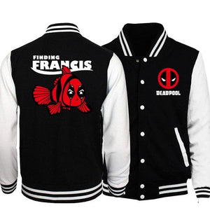 Hot Sale Plus Size Men Jackets 2018 Spring Baseball Uniform Batman 2/ The Flash/ Deadpool/ The Punisher Hip Hop Men Coat S-5XL-cgabuy