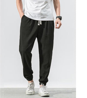 Sinicism Store 5XL Linen Harem Pants Mens Jogger Pants 2018 Male Casual Summer Track Pants Fitness Trousers Plus Size-cgabuy