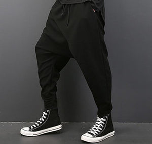 INCERUN Men Deep Crotch Trousers Hip Hop Harem Men Pants Elastic Waist Loose Baggy Swag Casual Plus Size Brand Clothing Homme-cgabuy