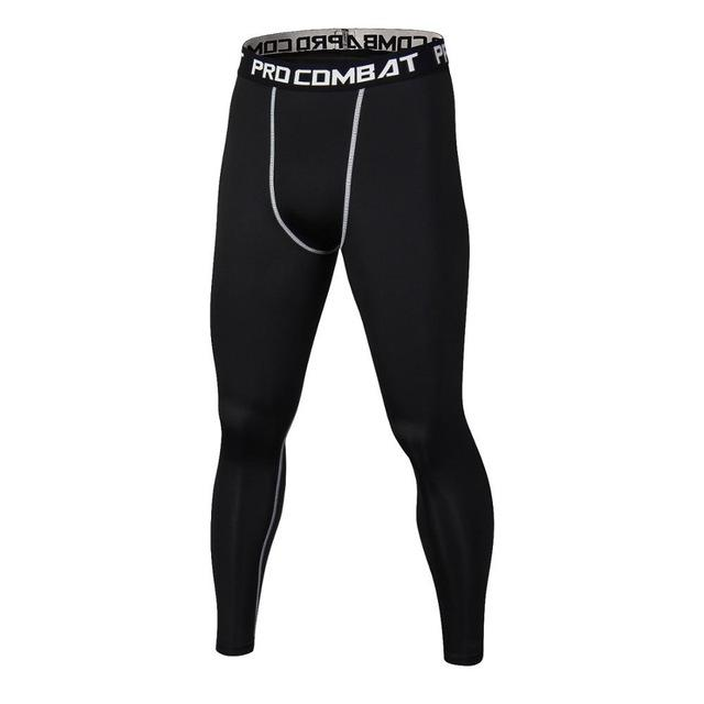2018 Men Compression Pants Casual Jogger Tights Lycra Bodybuilding High Elasticity Joggers Base Layer Skinny Leggings-cgabuy