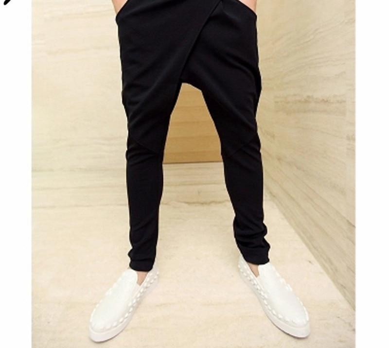 Asian Size M-XXL 2016 Jamickiki Brand Men's Harem Pants Side Pocket Drawstring Solid Black Sweatpants Homme-cgabuy