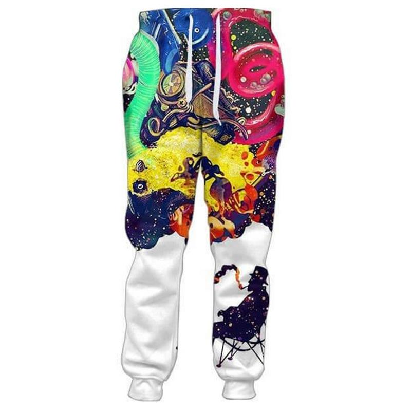Cloudstyle 2018 Mens 3D Long Pants Smoking Man 3D Print Joggers Fashion Full Length Trousers Large Size 5XL Streetwear Men Women-cgabuy