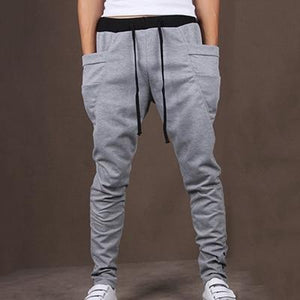 BORRUICE 2018 Spring Men Gyms Pants Casual Elastic Trousers Mens Fitness Workout Pants skinny Sweatpants Trousers Jogger Pants-cgabuy