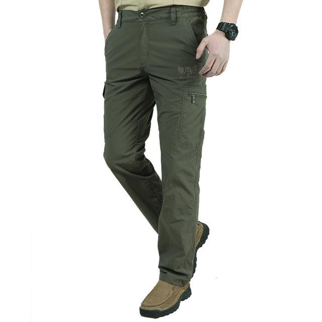 Men's Military Style Cargo Pants Men Summer Waterproof Breathable Male Trousers Joggers Army Pockets Casual Pants Plus Size 4XL-cgabuy