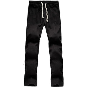 Brand New Men Cotton Linen Casual Pants Men's Solid Thin Breathable Joggers Sweatpants Plus Size M-XXXXL Straight Trousers-cgabuy