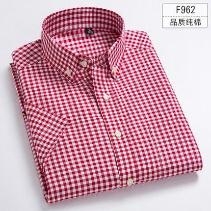 Large Big Size 5XL 6XL 7XL 8XL Plaid Full Cotton Thin Short Sleeve Men Shirt Casual Business Formal Fat People Clothing-cgabuy