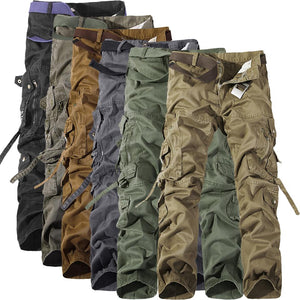 2018 Men's Cargo Pants Casual Mens Pant Multi Pocket Military Overall Men Outdoors High Quality Long Trousers Plus size 30-42-cgabuy