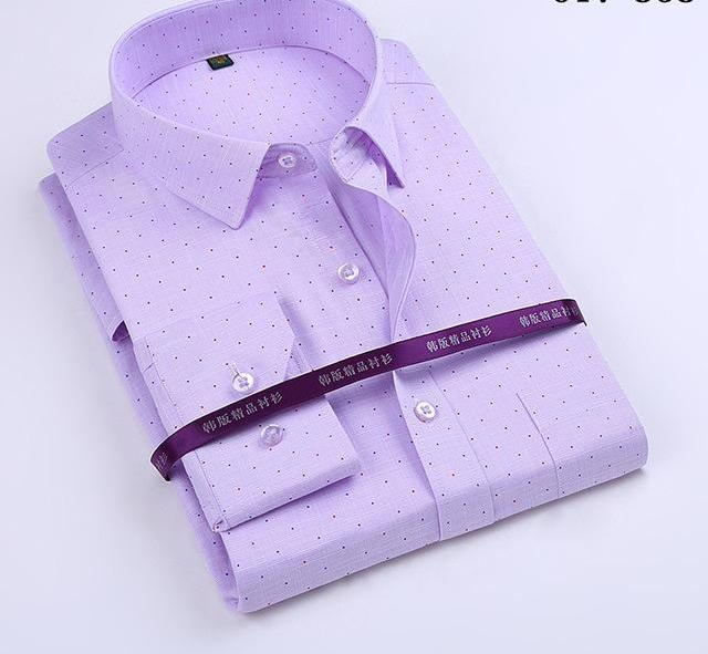 SHOWERSMILE Brand Bamboo Fiber Shirt Mens Long Sleeve Dress Shirts Slim Fit Party Business Social Cotton Solid Formal Shirt-cgabuy