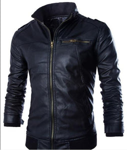 0dd441fac Newest Motorcycle Leather Jackets Men Solid Business Casual Coats ...