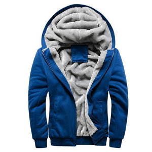 Warm Jacket Men Causal Parkas hombre Men Fleece Hooded Jacket Winter Coat Male Sweatshirt Overcoat Outerwear Brand Men Clothing-cgabuy
