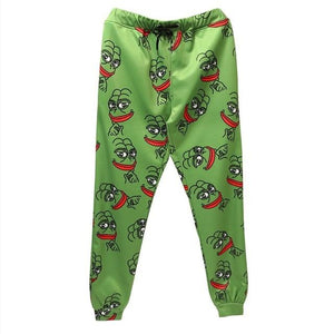 3D Pepe The Frog Joggers Pants Men/Women Funny Cartoon Sweatpants 2018 New Trousers Jogger Pants Elastic Waist Pants Dropship-cgabuy