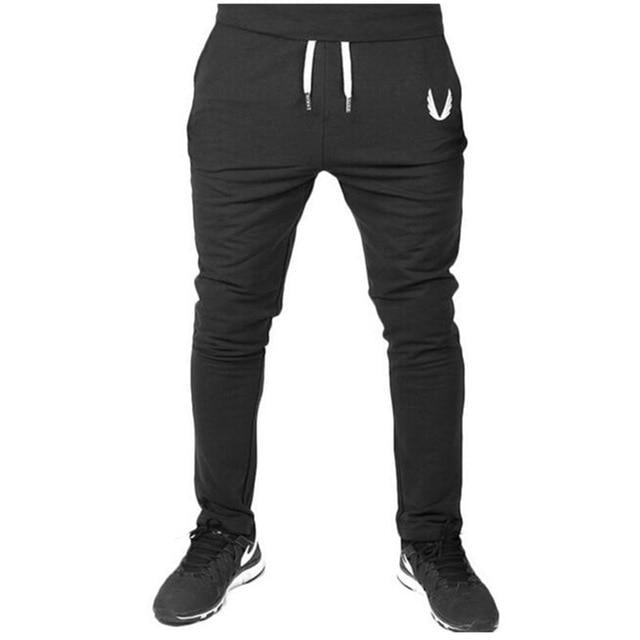 Men Joggers Fall 2018 New Han Edition Embroidery Mens Sweatpants Leisure Cultivate One's Morality Pants Men's Trousers-cgabuy