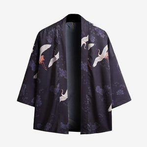 Privathinker 5XL Men Casual Shirt 3D Print Japanese Style Kimono Man's Open Stutch Shirts Coat Robe Male Shirt Harajuku 2018-cgabuy