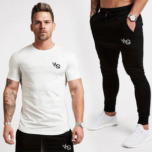 2018 New Joggers Mens Sweatpants Fashion Mens Sweatpants Fitness Bodybuilding Trousers Male Solid Sportswear Casual Gyms Pants-cgabuy