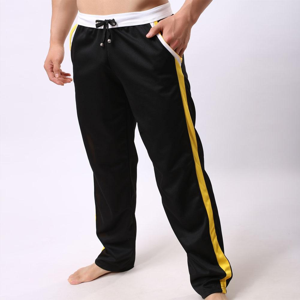 Men's Pants Sweatpants Trousers Full Length Bottoms Long Elastic Men Boys Workout Pants Casual Tracksuit Pockets pantalon hombre-cgabuy