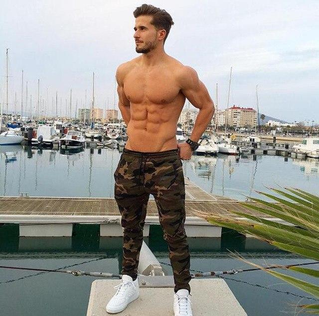 2018 New Camouflage Jogger Pants Men Fitted Active Cotton Sweatpants Male Track Pants Patchwork Casual Pants Man-cgabuy