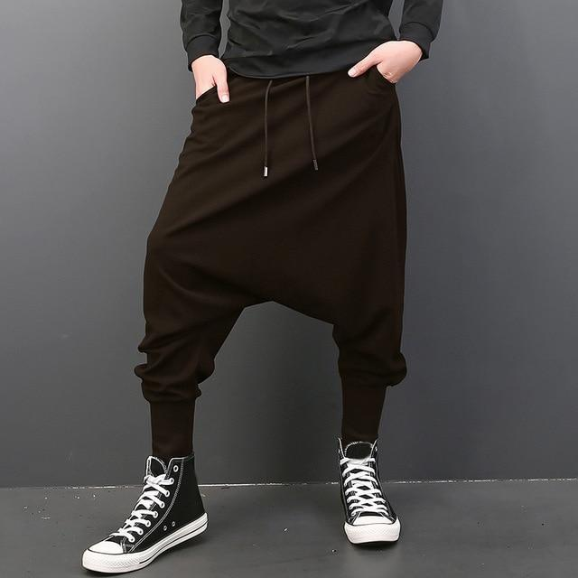 INCERUN Big Drop Crotch Men Hiphop Pants Baggy Harem Men Trousers Elastic Waist Joggers Sweatpants Dancing Pants 5XL Plus Size-cgabuy