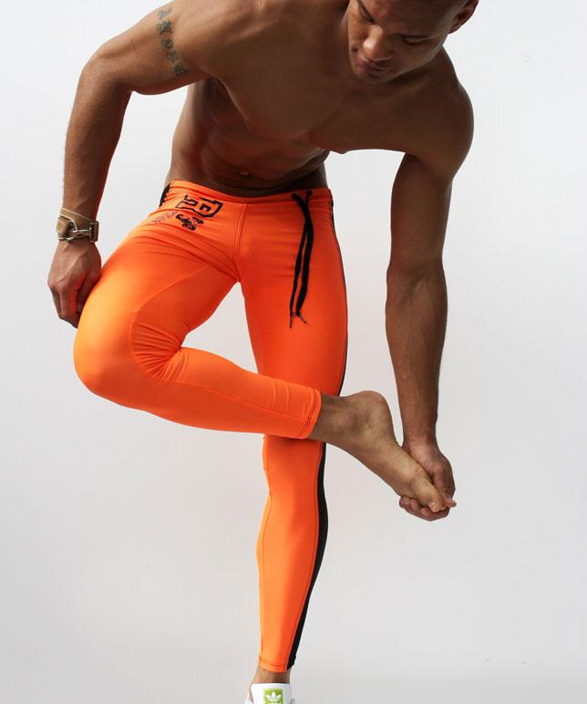 Fashion Men's Sexy Tight Pants Casual Sweatpants Low Rise Elastic Skinny Active Pants Compression Track Bottoms Leggings-cgabuy