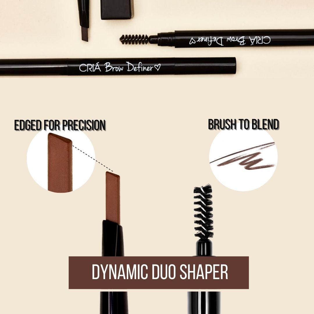Dynamic duo ended for brow precision and natural look