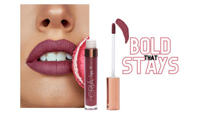 Bold colour lipstick that stays on all day