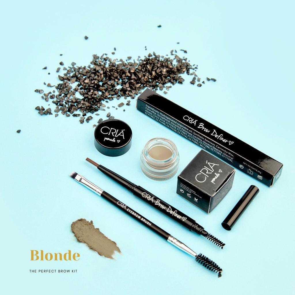 Perfect Brow Trio Kit (Blonde) - CRIÁ Cosmetics