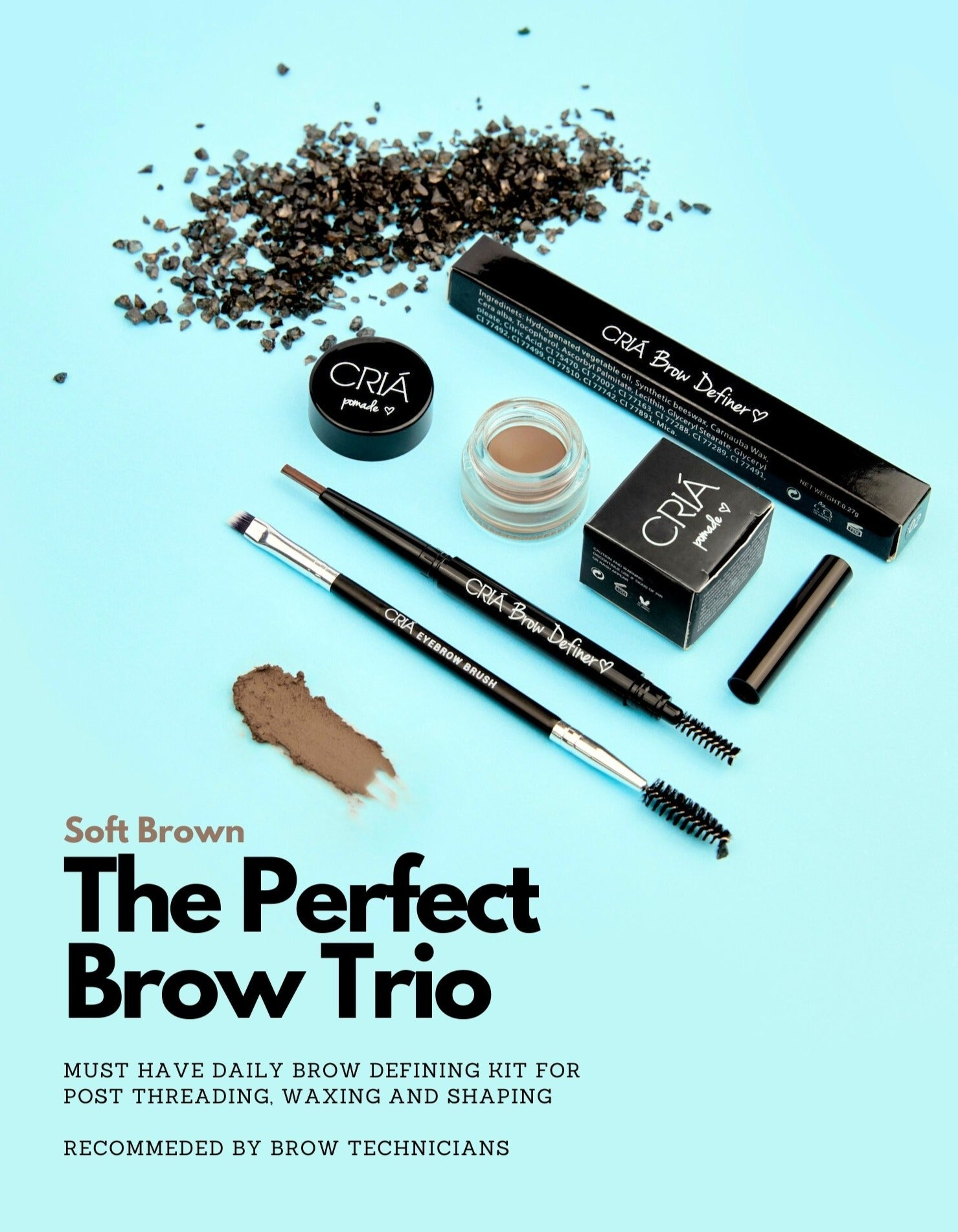 Perfect Brow Trio Kit (Soft Brown)