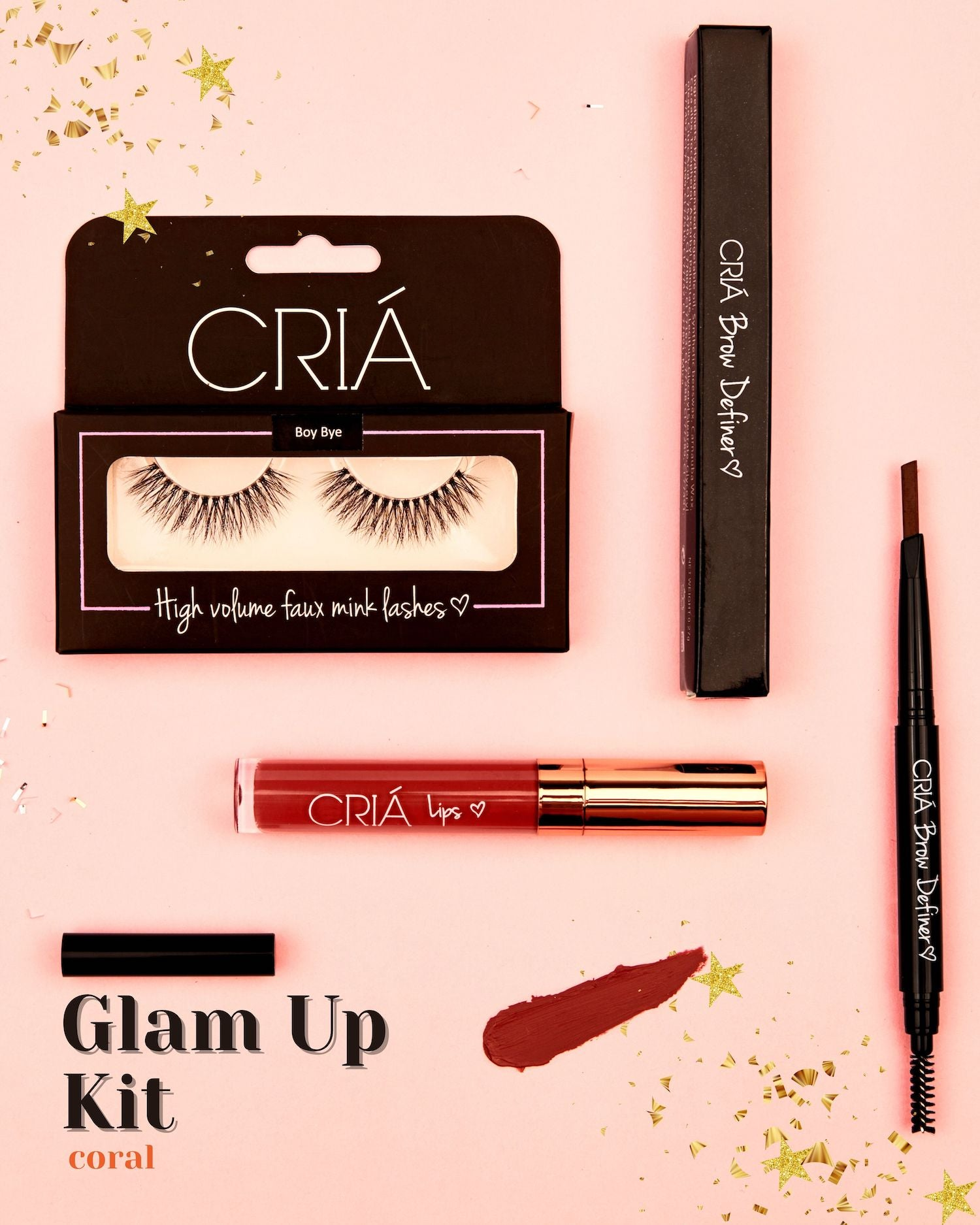 Glam Up Kit (Coral) - CRIÁ Cosmetics