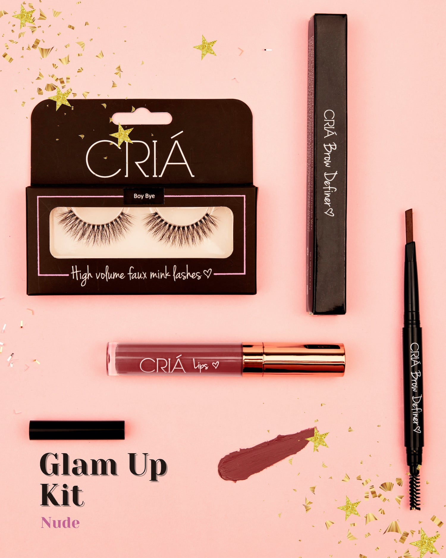 Glam Up Kit (Nude) - CRIÁ Cosmetics