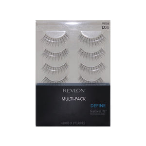 revlon d20 multi pack eyelash set, revlon define eyelashes, assortment revlon eyelashes