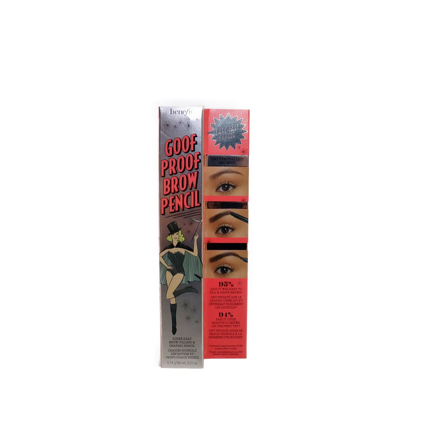 Benefit Goof Proof Brow Pencil #5 (Deep Brown to Black - Warm) 0.01 OZ, benefit brow pencil, brow perfect eye pencil, best perfect eye pencil, easy to do eyeshadow, easiest eyeshadow