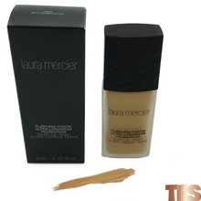 Load image into Gallery viewer, light weight full coverage foundation, medium buildable coverage, medium complexion foundation, lightweight foundation, medium skin foundation, butterscotch foundation, laura mercier butterscotch, laura mercier flawless fusion butterscotch foundation, beauty foundation