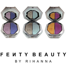 Load image into Gallery viewer, fenty beauty killawatt fresstyle highlighter duo, fenty collection, summer makeup styles, summer makeup, best summer picks, fenty beauty higlighters, hottest summer highlighter collection, hottest new makeup fenty, new fenty collection, fenty collection makeup highlighters