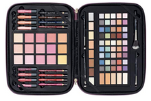 Load image into Gallery viewer, Pink Sparkle Makeup Gift Set,  Zippered Travel Case By ULTA 93 Piece, makeup kit, makeup set, ulta makeup box, ulta makeup zippered case, makeup case, best makeup sets, eye shadow, eye pencils, lip pencils, makeup palettes, best makeup palettes, travel makeup case, on the go makeup bag, on the go makeup set, travel makeup