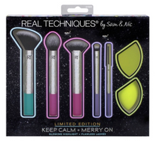 Load image into Gallery viewer, makeup brush set, limited edition makeup brush set, limited edition, makeup kit, makeup sponges, makeup sponge kit, ulta brush and sponge set, brush and sponge makeup kit, best makeup brushes, best makeup sponges, real techniques brush set, real techniques sponge, best makeup sponges,