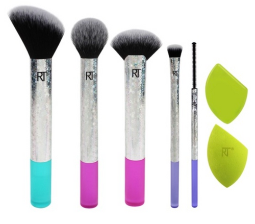 Limited Edition Multi Color Makeup Brush Set/Kit - Real Techniques
