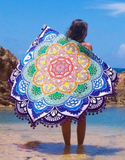 Mandala Beach Sheet Pink Lotus