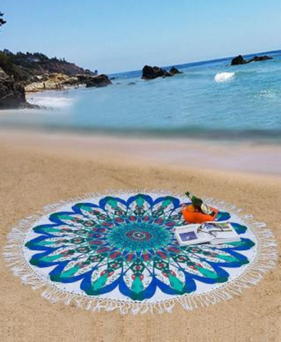 Mandala Beach Sheet Blues