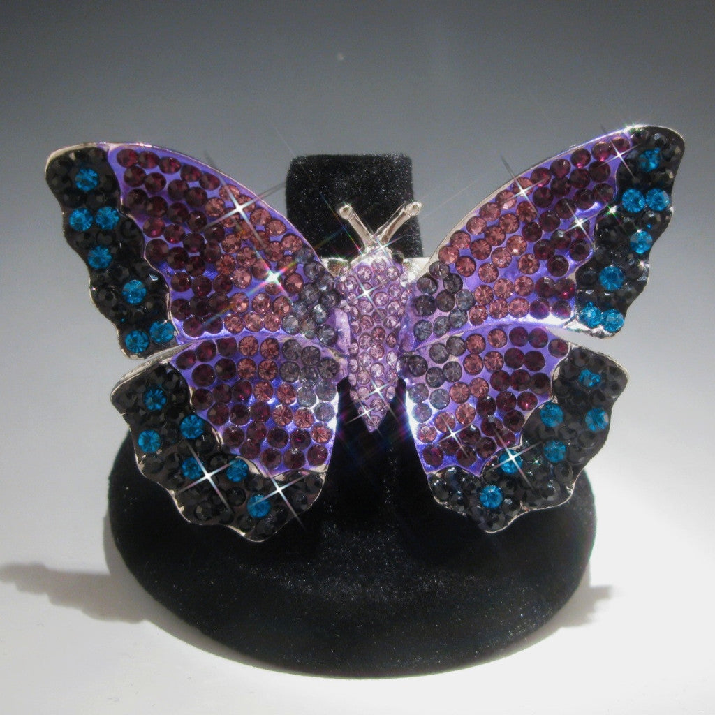 30a8a892be769 Crystal Rhinestone Butterfly Ring Bunny Couture Sexy Luxury Swimwear ...