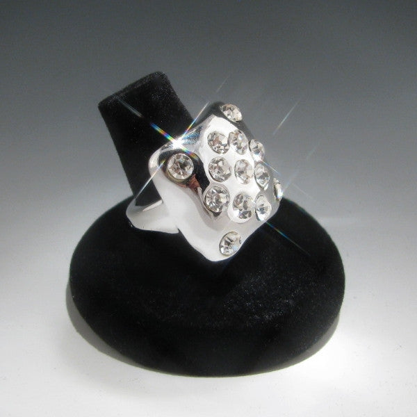 Silver Square Cocktail Ring