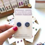 Blue Sparkle Stud | Round - What Fred Found