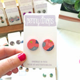 Party Statement Stud | Round + Heart