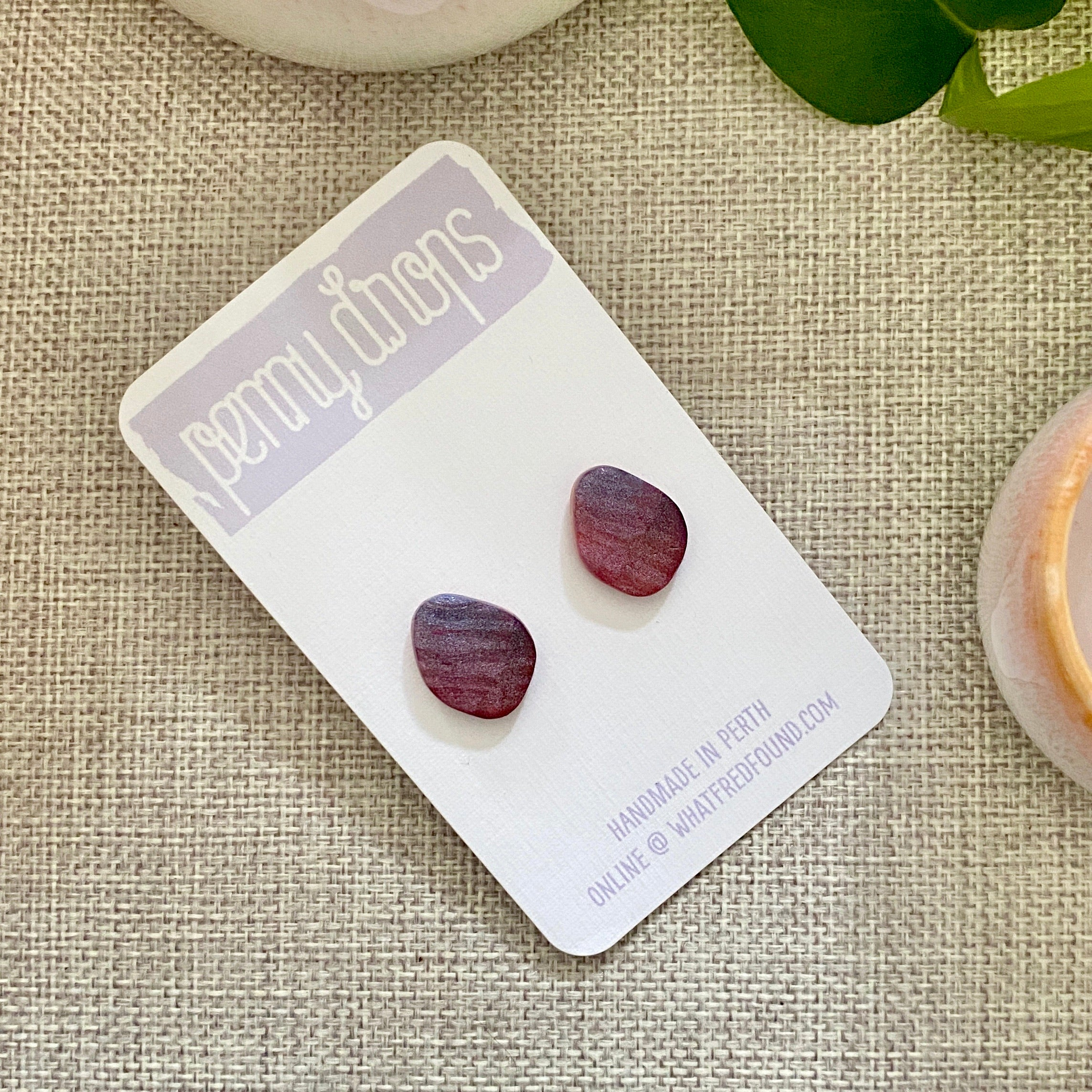 Lilac Sunset Stud | Organic Triangle