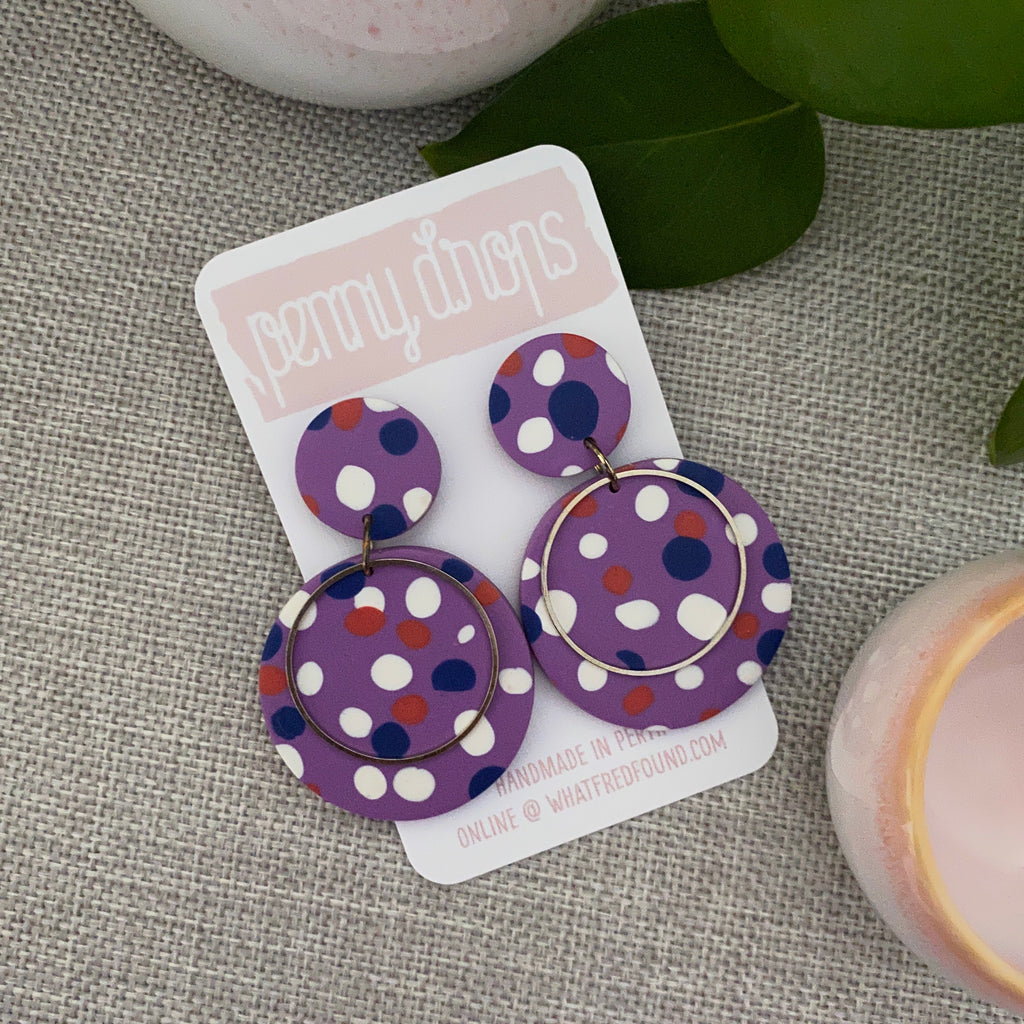 Purple Spot Drop | Statement Round