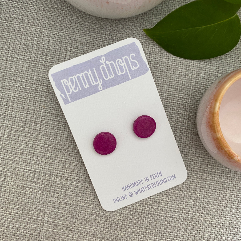 Pink Studs | Various Colours