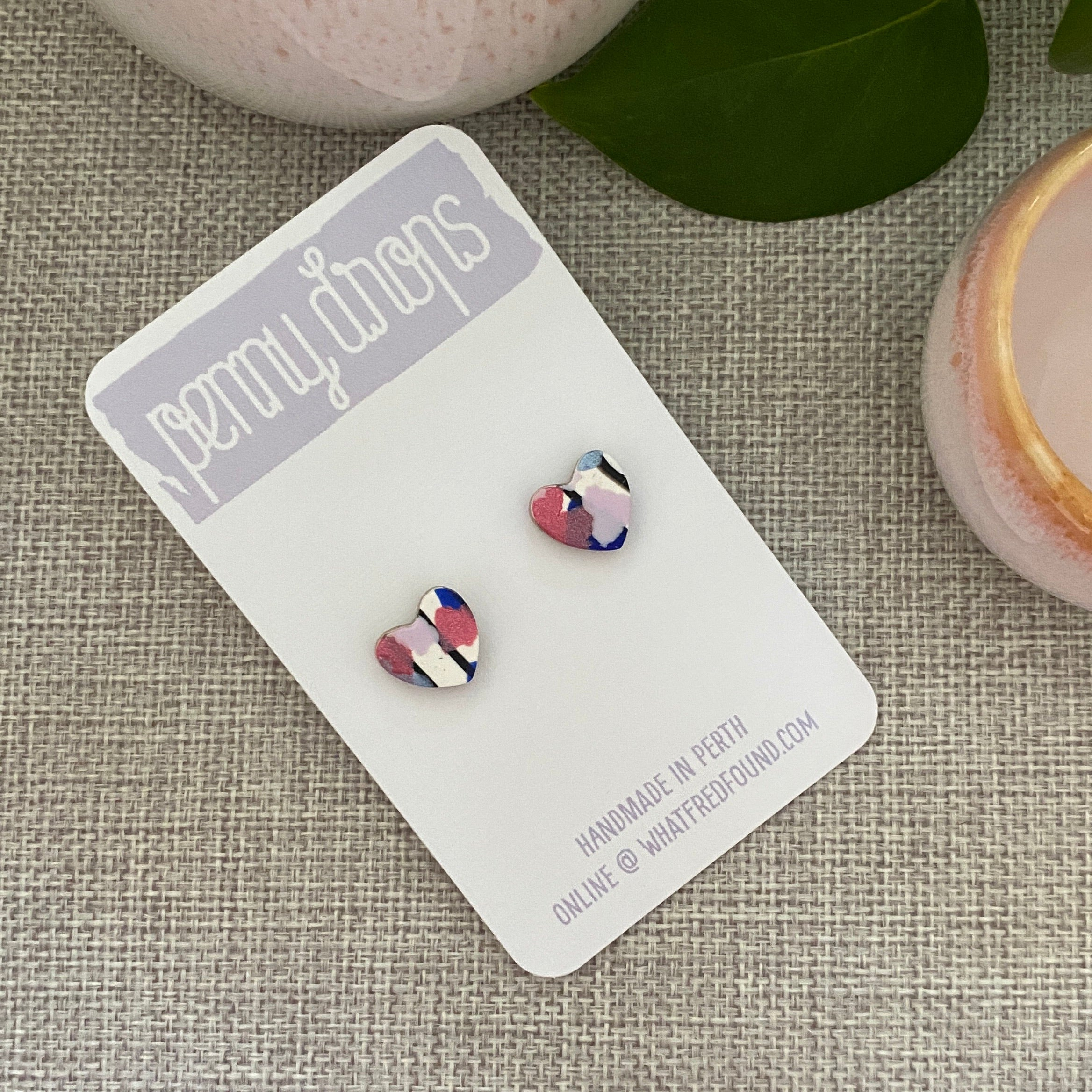 French Poppies Stud | Heart
