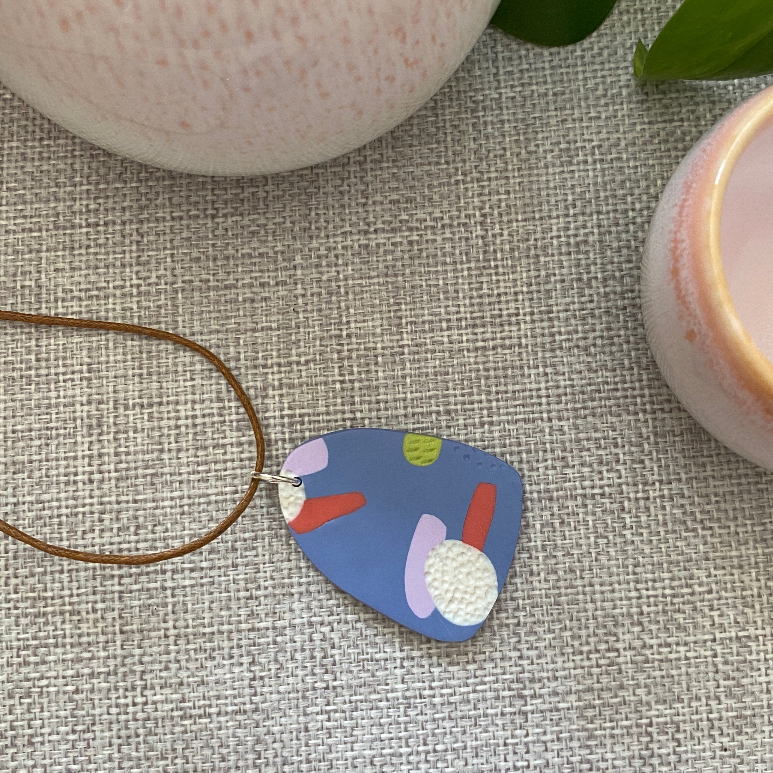Blue Canvas Pendant | Triangle