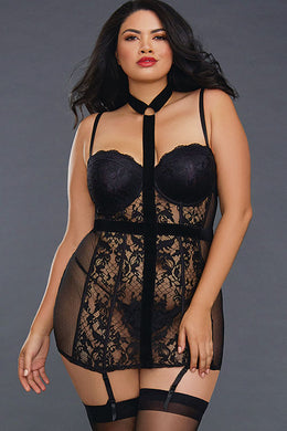 Samantha Collared Lace Chemise