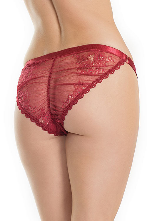 Bordeaux Babe Cheeky Ruched Panties