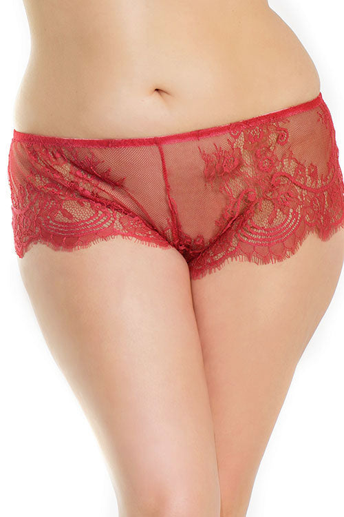 Bordeaux Babe Flirty Lace Boyshorts