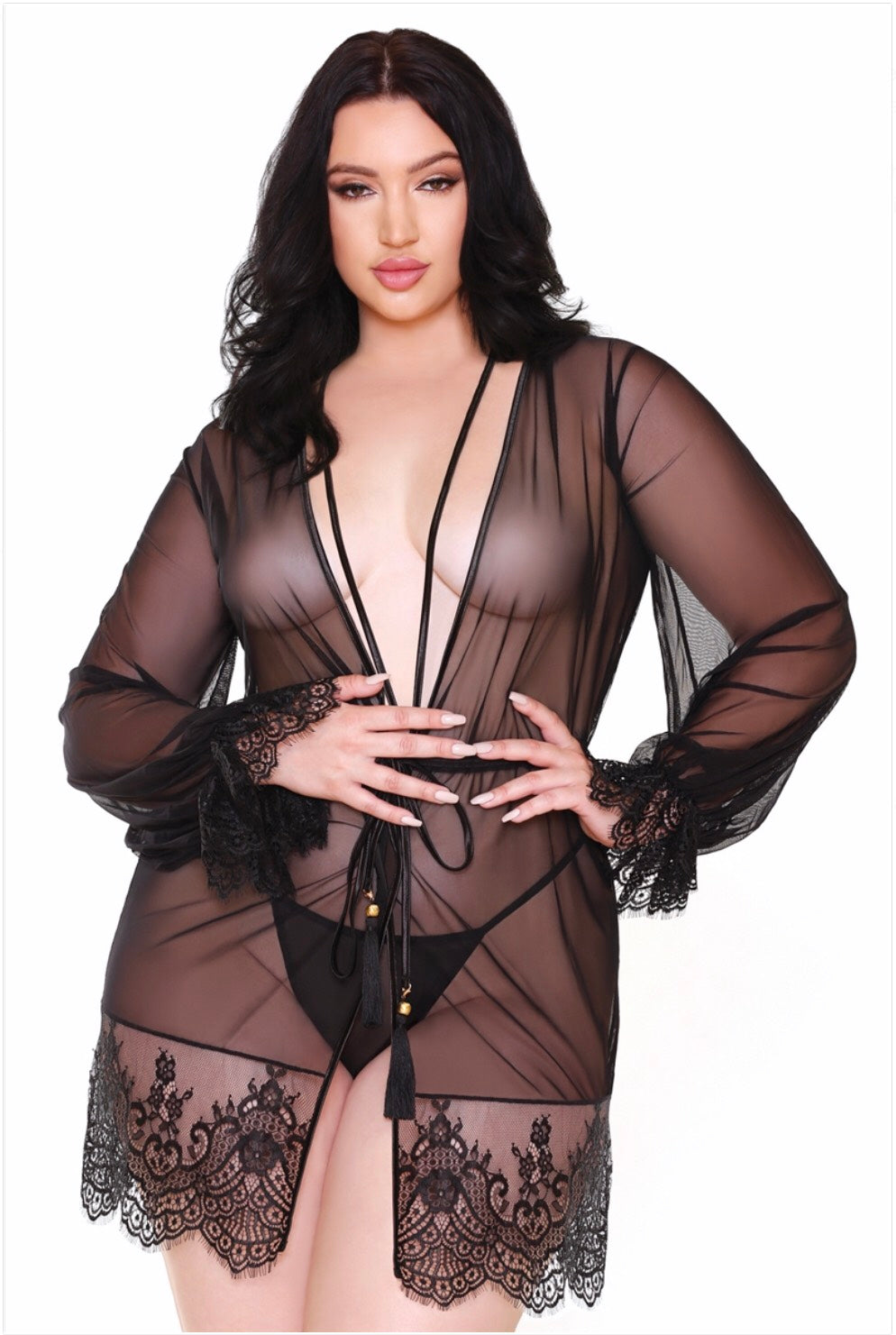 Helena Lace Robe & G-String
